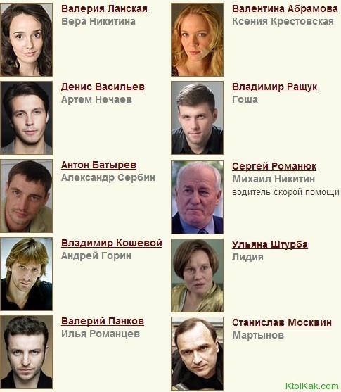 актеры скорая помощь