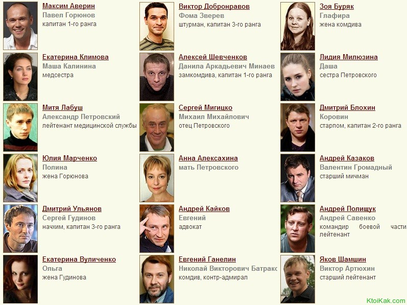 горюнов сериал актеры